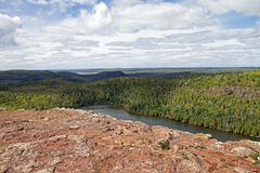 Une vue de lac bear du sentier de randonnée supérieur Photo libre de droits