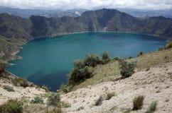 Une vue de lac Quilotoa Images libres de droits