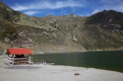 Une vue de lac Quilotoa Photos stock