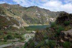 Une vue de lac Quilotoa Photographie stock libre de droits