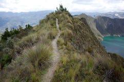Une vue de lac Quilotoa Images stock