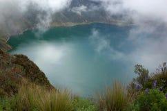 Une vue de lac Quilotoa Photo libre de droits