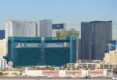 Une vue de Mgm Grand d'aéroport international de McCarran Image stock