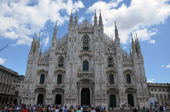 Une vue de Milan Cathedral Photo stock