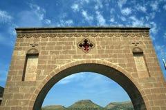 Une vue de monastère de Deyruzafaran Photo stock
