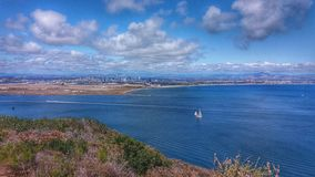 Une vue de monument national de Cabrillo, San Diego, la Californie Photos stock