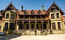Une vue de palais de Miramar en été photos stock