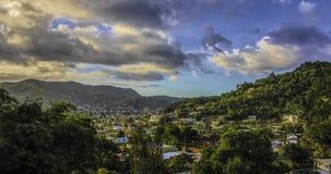 Une vue de petite vallée vers Diego Martin Valley, Trinidad Photo stock