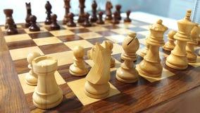 Une vue de pièce d'échecs sur l'échiquier photo libre de droits