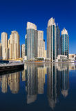 Une vue de résidence de plage de Jumeirah, chez Dubaï Marin images stock