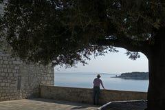 Une vue de Rab Croatia photo libre de droits