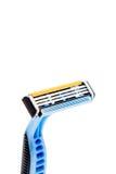 Une vue de rasage de profil de rasoir d'isolement sur un fond blanc Photos libres de droits