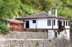 Une vue de rue de Melnik en Bulgarie Images stock