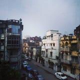 Une vue de rue de kolkatta images stock