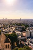 Une vue de scape de ville de Paris photo stock