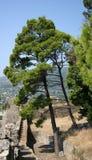 Une vue de tour de guet et au-dessus de la colline Images stock