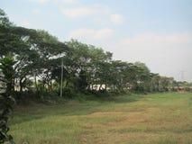 Une vue de village image stock