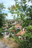 Une vue de ville de cru photos stock