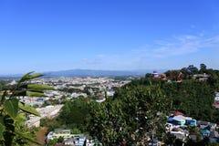Une vue de ville de Doi Wao et de Tachileik Photographie stock