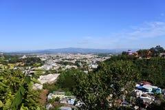 Une vue de ville de Doi Wao et de Tachileik Images libres de droits