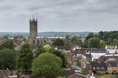 Une vue de Warwick Cathedral Image libre de droits