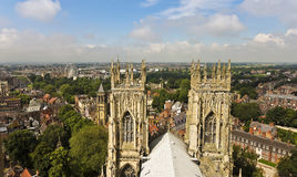 Une vue de York de York Minster Photos stock