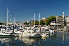 Une vue des bâtiments de bord de mer et de point de repère, Victoria Photographie stock libre de droits