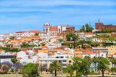 Une vue des bâtiments de ville de Silves Images stock