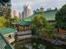 Une vue des beaux jardins chinois, dans le Wong Tai Sin Temple en Hong Kong photographie stock libre de droits