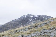 Une vue des montagnes dans le secteur de lac, Angleterre Photos stock