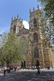 Une vue des tours occidentales de York Minster Images libres de droits