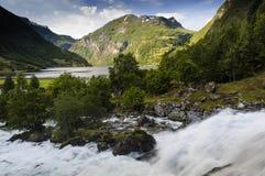 Une vue différente de fjord de Geiranger Photos libres de droits