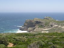 Une vue du Cap de Bonne-Espérance, regardant à la mer photographie stock