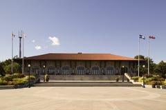 Une vue du chalet sur le belvédère de Kondiaronk sur le bâti royal photographie stock libre de droits