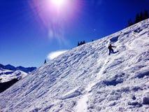 Une vue du haut d'une montagne près d'Avon le Colorado Images stock