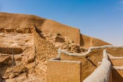 Une vue du mur de château de Munikh des banlieues, Al Majmaah, Arabie Saoudite photos libres de droits