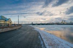 Une vue du pont d'annonce Photographie stock