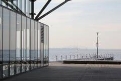 Une vue du remblai de mer Image libre de droits
