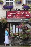 Une vue du restaurant de postillon, rue de cendre Photographie stock