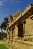Une vue intérieure dans le temple antique de Brihadisvara dans le cholapuram de gangaikonda, Inde photographie stock