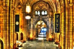 Une vue intérieure de la cathédrale de l'étude Pitt - à Pittsburgh Photographie stock libre de droits