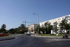 Une vue moderne de Cadix, une des villes les plus antiques d'Europe occidentale Image libre de droits