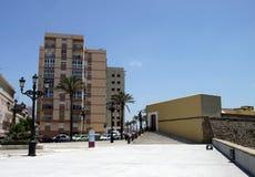 Une vue moderne de Cadix, une des villes les plus antiques d'Europe occidentale Photographie stock libre de droits