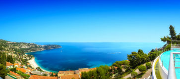 Une vue panoramique de la baie de Bleu de Golfe Photos libres de droits