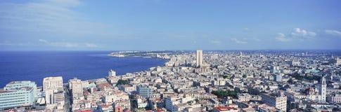 Une vue panoramique de La Havane, Cuba avec l'océan Images libres de droits