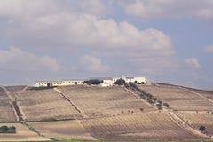 Une vue panoramique de la plaine Image stock