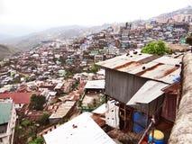 Une vue panoramique de ville de colline de Kohima photo stock