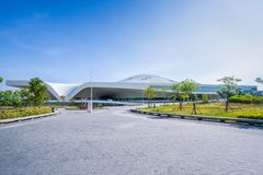 Une vue panoramique du centre national récemment réalisé pour les arts du spectacle Photos libres de droits