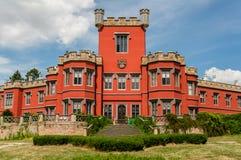 Une vue plus étroite au château de Hradek u Nechanic, République Tchèque Images libres de droits