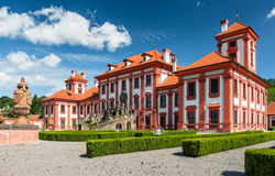 Une vue plus étroite au palais de Troja, Prague Photo libre de droits